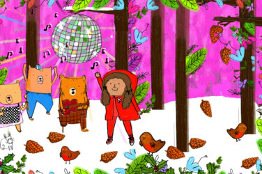 Dancing bears in a forest