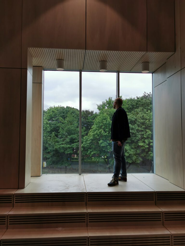 Stunning oriel window in new rehearsal and hireable space